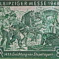 1948 Allied Occupation German Stamp by Bill Owen