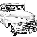 1948 Chevrolet Fleetmaster Antique Car Illustration by Keith Webber Jr