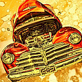 1948 Chevy Gold Acid Art by Lesa Fine