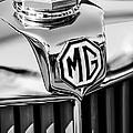 1948 Mg Tc Hood Ornament -767bw by Jill Reger