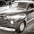 1948 Plymouth Classic Car Complete In Black And White Sepia 3386 by M K Miller