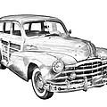 1948 Pontiac Silver Streak Woody Illustration by Keith Webber Jr