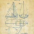1948 Sailboat Patent Artwork - Vintage by Nikki Marie Smith