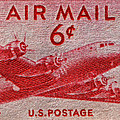1949 Dc-4 Skymaster Air Mail Stamp by Bill Owen