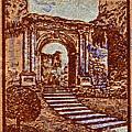 1949 San Francisco Ruins Dominican Republic Stamp by Bill Owen