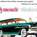 1950 - Plymouth Suburban Station Wagon Automobile Advertisement - Color by John Madison