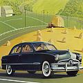 1950 Custom Ford - Square Format Image Picture by Walt Curlee