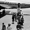 1950s Airplane Boarding Passengers by Vintage Images