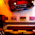 1950s American Diner - Featured In Vehicle Enthusiasts by Ericamaxine Price