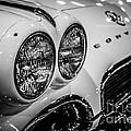 1950's Chevrolet Corvette C1 In Black And White by Paul Velgos