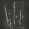 1951 Fender Electric Guitar Patent Artwork - Gray by Nikki Marie Smith