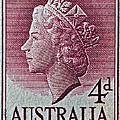 1952-1958 Australia Queen Elizabeth II Stamp by Bill Owen