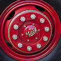 1952 L Model Mack Pumper Fire Truck Wheel by Jill Reger