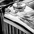 1953 Bentley R-type Hood Ornament - Emblem -0790bw by Jill Reger
