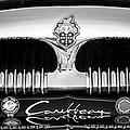 1953 Packard Caribbean Grille Emblem -1217bw by Jill Reger