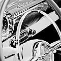 1954 Chevrolet Belair Steering Wheel Emblem -1535bw by Jill Reger