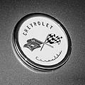 1954 Chevrolet Corvette Emblem -052bw by Jill Reger