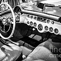 1954 Chevrolet Corvette Interior Black And White Picture by Paul Velgos