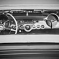 1954 Chevrolet Corvette Steering Wheel -139bw by Jill Reger