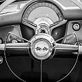 1954 Chevrolet Corvette Steering Wheel -382bw by Jill Reger