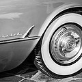 1954 Chevrolet Corvette Wheel Emblem -159bw by Jill Reger