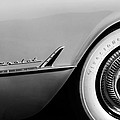 1954 Chevrolet Corvette Wheel Emblem -282bw by Jill Reger