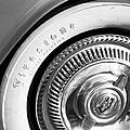 1954 Chevrolet Corvette Wheel Emblem -290bw by Jill Reger