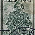 1954 Czechoslovakian Soldier Stamp by Bill Owen
