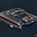1954  Ford Cougar Experimental Car Concept Design Concept Sketch by John Samsen