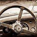 1954 Jaguar Xk120 Roadster Steering Wheel Emblem by Jill Reger