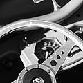 1954 Mg Tf Steering Wheel Emblem -0920bw by Jill Reger