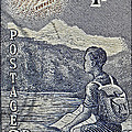 1954 Mount Aspiring New Zealand Stamp by Bill Owen