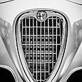 1955 Alfa Romeo 1900 Css Ghia Aigle Cabriolet Grille Emblem -0564bw by Jill Reger