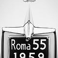 1955 Alfa Romeo 1900 Css Ghia Aigle Cabriolet Grille Emblem - Super Sprint Emblem -0601bw by Jill Reger