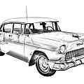1955 Chevrolet Bel Air Illustration by Keith Webber Jr