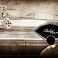 1955 Chevrolet Belair Dashboard Emblem by Jill Reger