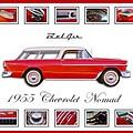 1955 Chevrolet Belair Nomad Art by Jill Reger