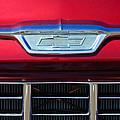 1955 Chevrolet Pickup Truck Grille Emblem by Jill Reger