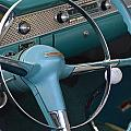 1955 Chevy Nomad Steering Wheel by Barbara Snyder