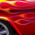1955 Chevy Pickup With Flames by Garry Gay