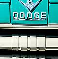 1955 Dodge C-3-b8 Pickup Truck Grille Emblem by Jill Reger