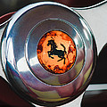 1955 Ferrari 250 Europa Gt Pinin Farina Berlinetta Steering Wheel Emblem by Jill Reger
