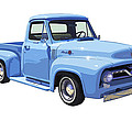 1955 Ford F100 Blue Pickup Truck Canvas by Keith Webber Jr