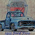 1955 Ford F100 Illustration 2 by Dave Koontz