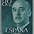 1955 General Franco Spanish Stamp by Bill Owen