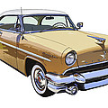 1955 Lincoln Capri Fine Art Illustration  by Keith Webber Jr