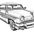 1955 Lincoln Capri Luxury Car Illustration by Keith Webber Jr