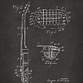 1955 McCarty Gibson Les Paul Guitar Patent Artwork 2 - Gray by Nikki Marie Smith