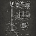 1955 Mccarty Gibson Les Paul Guitar Patent Artwork - Gray by Nikki Marie Smith