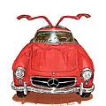 1955 Mercedes Benz 300 S L  by Jack Pumphrey